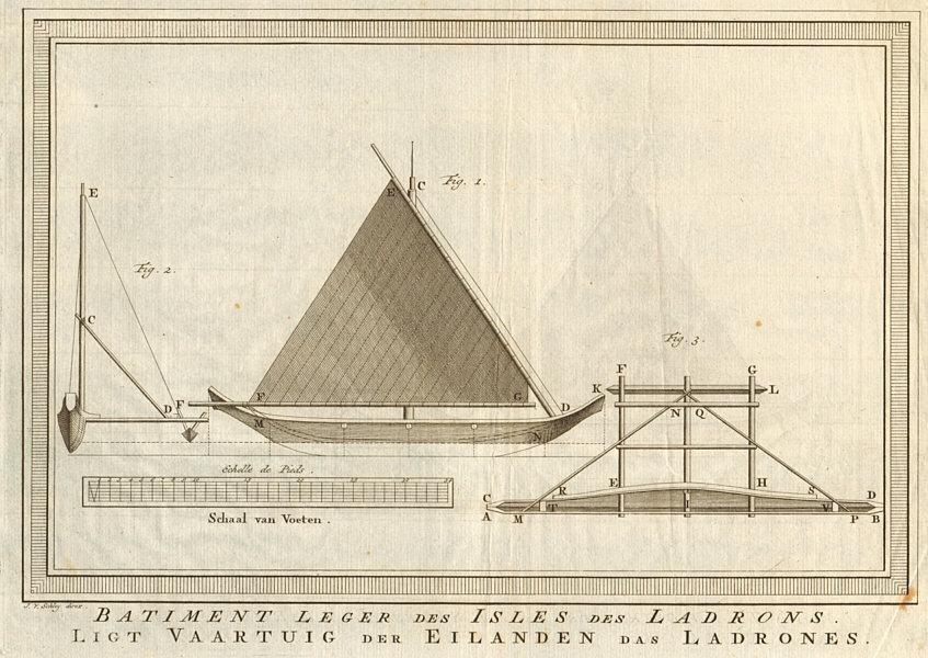 Associate Product Batiment leger des Isles des Ladrons. Proa sail boat Mariana islands SCHLEY 1757