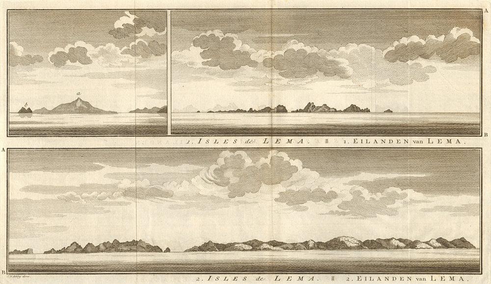 Associate Product Lema islands coast profile. Hong Kong Wanshan Jiapeng Liedao Kaipong SCHLEY 1757
