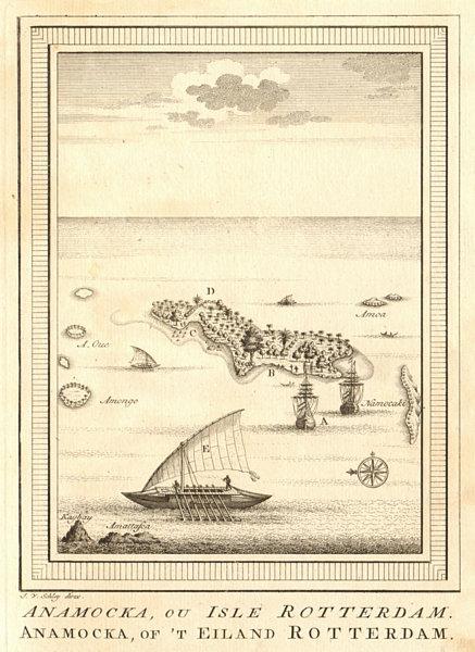 Associate Product 'Anamocka ou Isle Rotterdam'. Nomuka island Tonga. Abel Tasman 1643. SCHLEY 1758