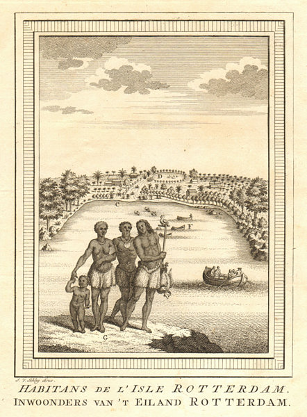 Associate Product 'Habitans de l'Isle Rotterdam'. Tongans, Nomuka island. Tasman 1643. SCHLEY 1758