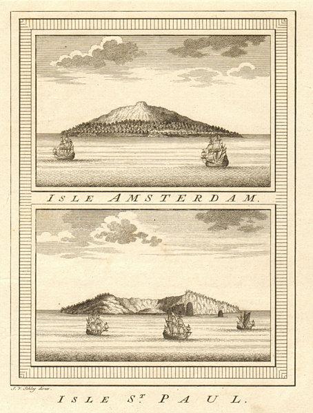 Associate Product Îles Amsterdam & St. Paul islands. Indian Ocean. Vlamingh 1696. SCHLEY 1758