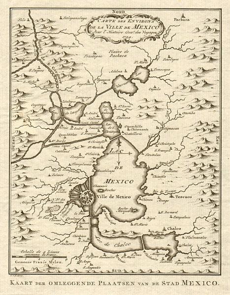 'Carte des Environs de la Ville de Mexico'. Mexico City. BELLIN/SCHLEY 1758 map