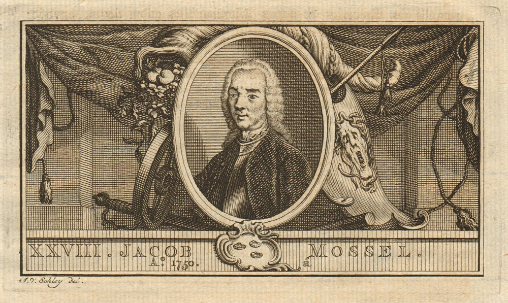 Jacob Mossel, Governor-General of the Dutch East Indies 1750-1761 1763 print
