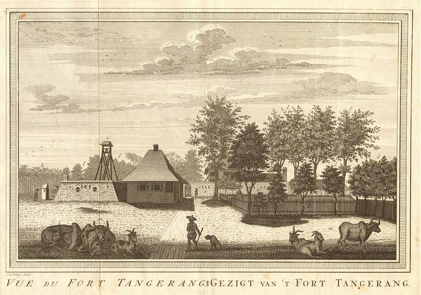 Associate Product 'Vue du Fort Tangerang', Batavia, Dutch East Indies. Jakarta. SCHLEY 1763