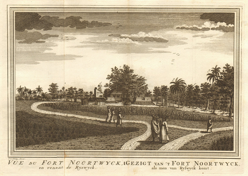 Associate Product 'Vue du Fort Noortwyck' #1. Pasar Baru, Batavia/Jakarta. Razed 1808. SCHLEY 1763