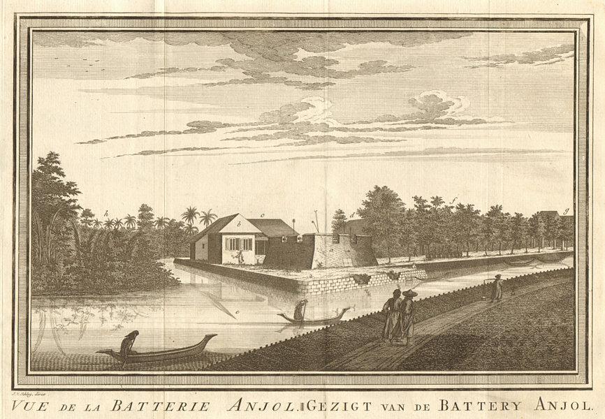 Associate Product 'Vue de la Batterie Anjol'. Fort Ancol battery, Batavia. Jakarta. SCHLEY 1763