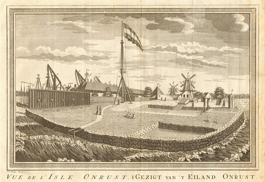 Associate Product View of Onrust Island. Pulau Onrust (Kapal island), Jakarta. SCHLEY 1763 print