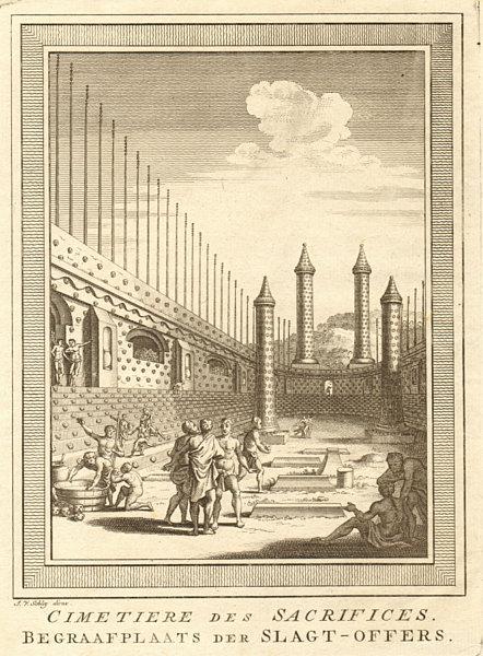 Associate Product Cimetière / Cemetery of Human Sacrifices, Tenochtitlan-Mexico City. SCHLEY 1762