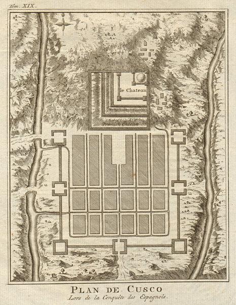 Associate Product Town city 'Plan de Cusco'. Peru. BELLIN / SCHLEY 1772 old antique map chart