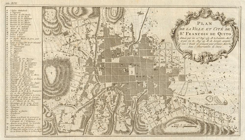 Associate Product 'Plan de la ville… de St. Francois de Quito'. Ecuador. BELLIN/SCHLEY 1772 map