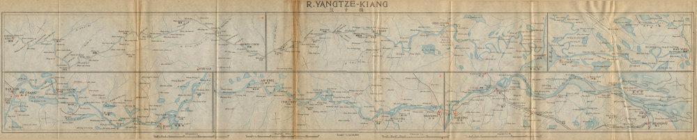 Associate Product 'Yangtze-kiang'. Yangtze river antique map. Shanghai Wuhan Nanjing. China 1915