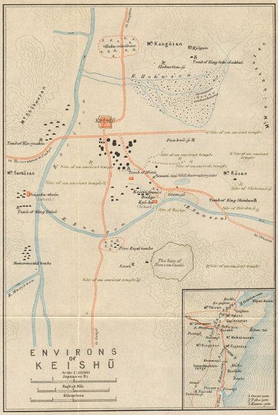 Associate Product 'Environs of Keishu'. Gyeongju temples & historic sites, South Korea 1913 map