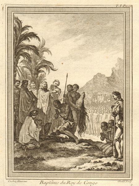 Associate Product 'Baptême du Roy de Congo'. Joao I, King of Kongo baptism 1491. Nkuwu Nzinga 1746