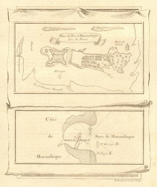 Associate Product 'Plan du Fort de Mozambique' Island. Fort Sao Sebastiao. BELLIN 1746 old map