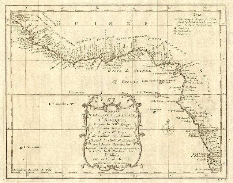 Associate Product 'Coste Occidentale d'Afrique…' West Africa. Gulf of Guinea. BELLIN 1746 map