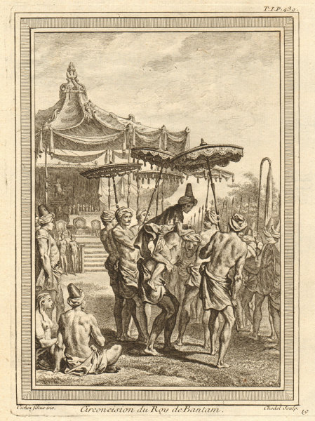 Associate Product Circumcision of the King or Sultan of Banten (Bantam), Java 1746 old print