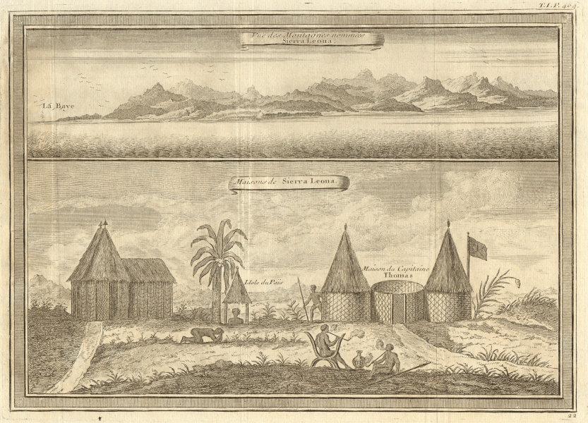 Associate Product The mountains & coast of Sierra Leone. Capt Thomas's house. Thomas Peters 1746