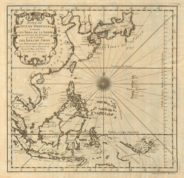 Associate Product 'Suite de l'Ocean Oriental…' East Asia/Indies. Western Pacific. BELLIN 1746 map