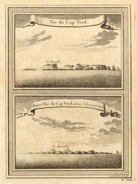 Associate Product Two views of Cap-Vert from the sea. Deux Mamelles, Dakar, Senegal 1746 print