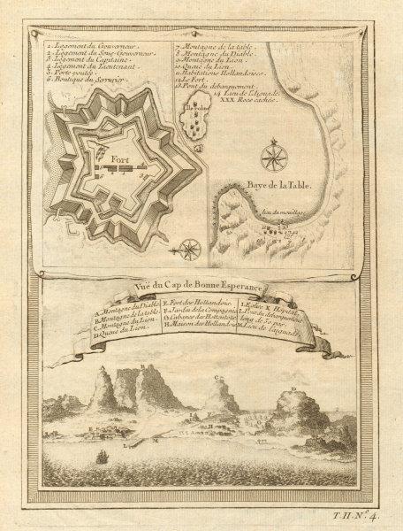 Associate Product 'Vue du Cap de Bonne-Espérance'. Cape Town. Table Bay. Good Hope BELLIN 1746 map