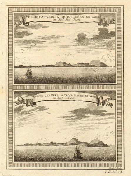 Two views of Cap-Vert from SSW & SSE. Deux Mamelles, Dakar, Senegal 1746 print