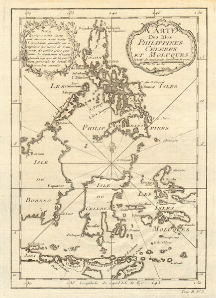 Associate Product 'Carte des Isles Philippines, Celebes & Moluques'. East Indies. BELLIN 1746 map