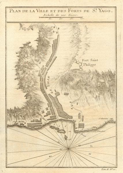 Associate Product 'Plan de la Ville… de St. Yago'. Praia, Santiago Cabo/Cape Verde BELLIN 1746 map