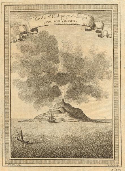 Associate Product Cabo/Cape Verde islands. Pico de Fogo. 'St. Philipe ou de Fuego'. Volcano 1746