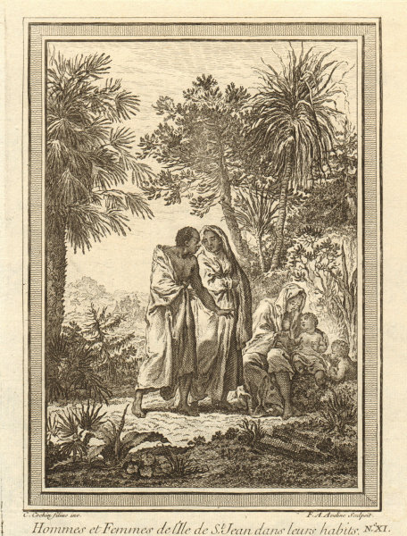 Associate Product Cabo/Cape Verde islands. Men & women of St Jean (Brava) in their clothes 1746