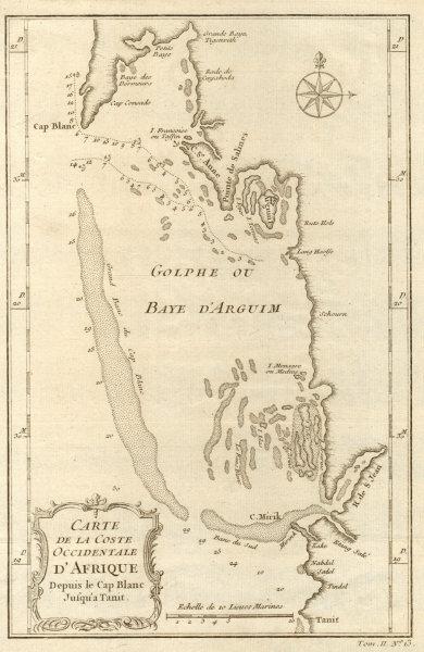 'Coste Occidentale d'Afrique…' Arguin Bay Cap Blanc Mauritania. BELLIN 1746 map