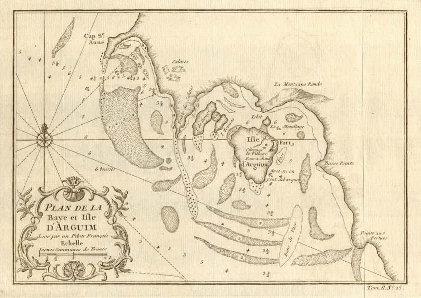Associate Product 'Plan de la Baye & Isle d'Arguim'. Mauritania. Arguin island. BELLIN 1746 map