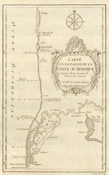 Associate Product 'Partie de la Coste d'Afrique depuis Tanit…' Southern Mauritania BELLIN 1746 map