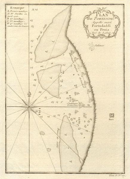 Associate Product 'Plan du Portendic, appellé aussi…' Portendick Mauritania. BELLIN 1746 old map