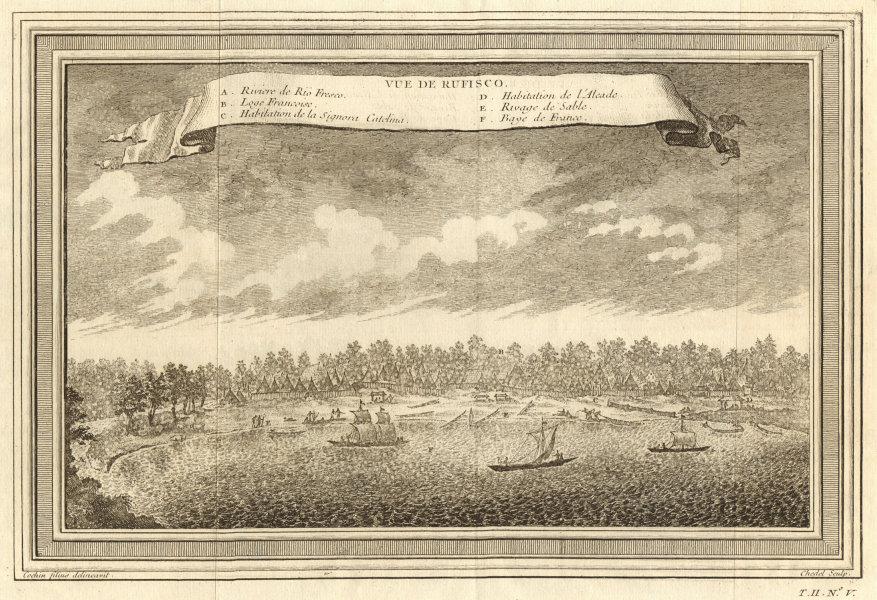 Associate Product 'Vue de Rufisco'. View of Rufisque, Dakar, Senegal 1746 old antique print