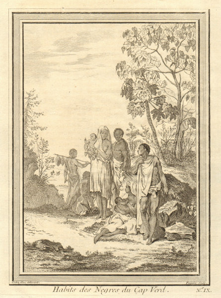Associate Product 'Habits des Négres du Cap-Verd'. Senegalese dress, Cap-Vert, Dakar 1746 print