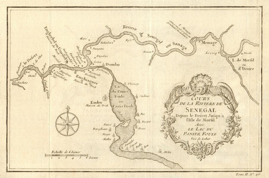 Associate Product 'Cours de la Riviere de Senegal' River. Morfil island Lac Guiers BELLIN 1746 map
