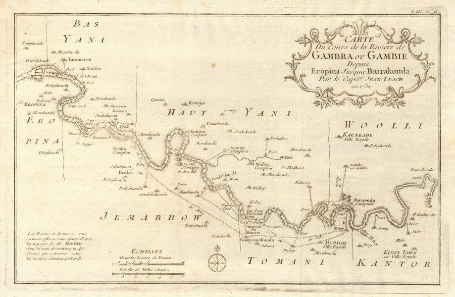 Associate Product 'Rivière de Gambra ou Gambie, depuis Eropina…' Gambia river. BELLIN 1747 map