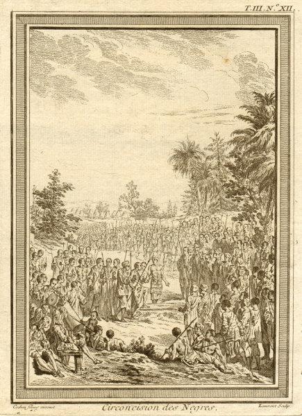 Associate Product 'Circoncision des Négres'. Negro circumcision ceremony nr St Louis Senegal 1747
