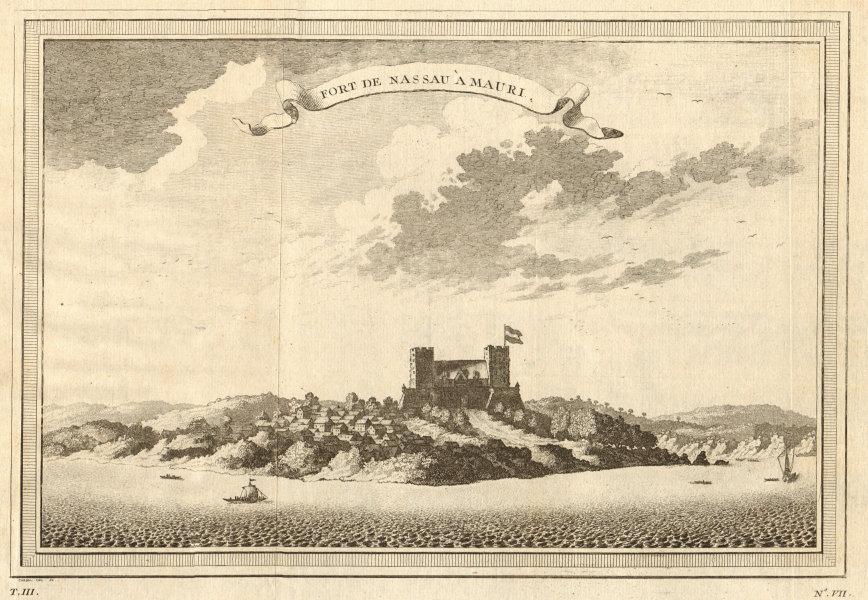Associate Product 'Fort de Nassau à Mauri'. View of Fort Nassau, at Moree, Ghana 1747 old print