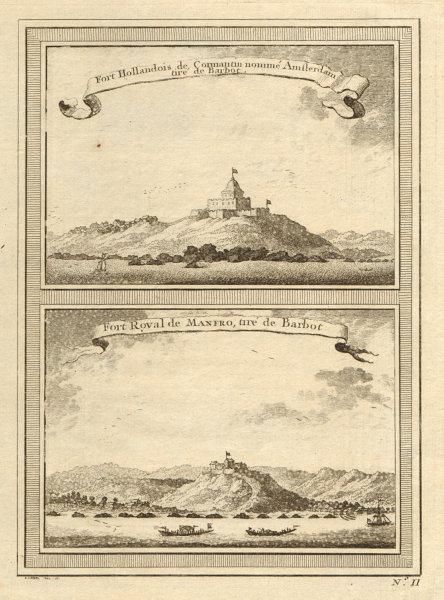Associate Product Ghana. Fort Amsterdam, Kormantin. Fort Royal, Amanful Hill, Cape Coast 1747