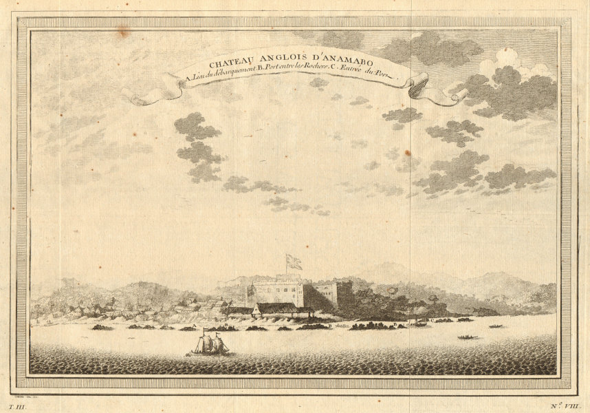Associate Product 'Chateau Anglois d'Anamabo'. Fort Charles (now Ft William), Anomabu, Ghana 1747