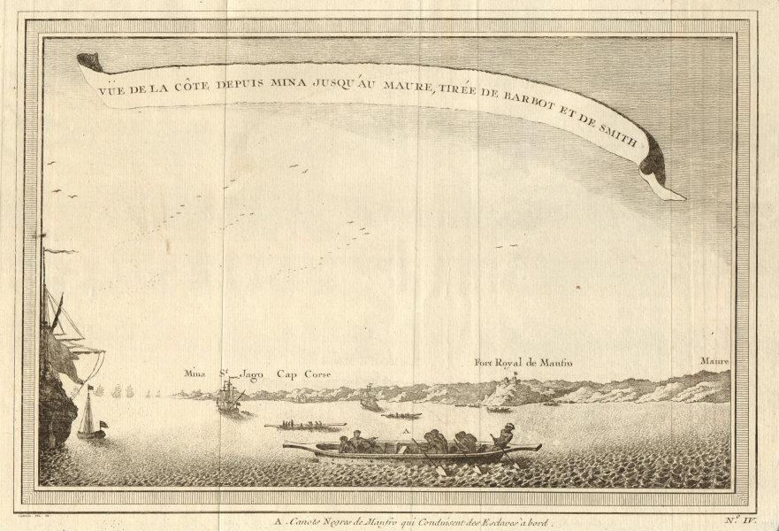 Associate Product 'La Côte depuis Mina… à Maure'. Ghana coast Elmina - Cape Coast - Moree 1747