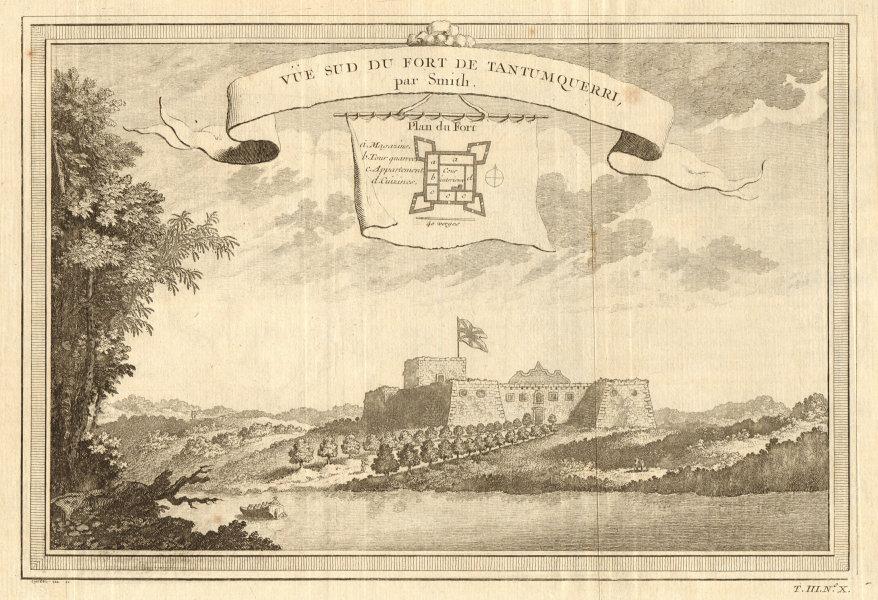 'Fort sud de Tantumquerri'. Fort Tantumquerry, Otuam, Mfantseman, Ghana 1747