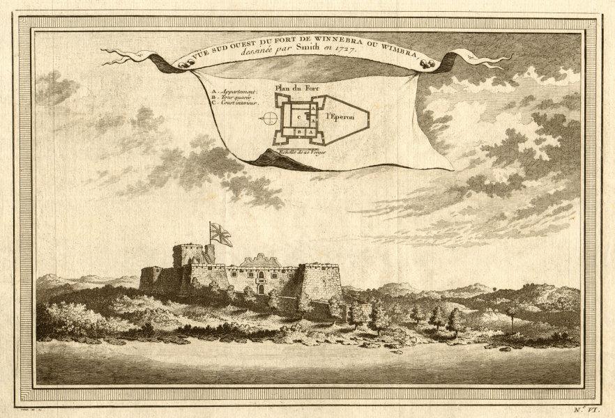 Associate Product 'Vue Sud Ouest du Fort de Winnebra ou Wimbra'. View of Fort Winneba, Ghana 1747
