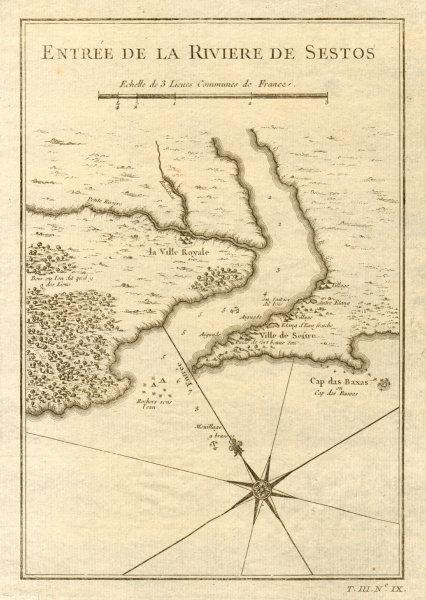 Associate Product 'Entrée de la Riviere de Sestos'. Cess Town Cestos River Liberia BELLIN 1747 map