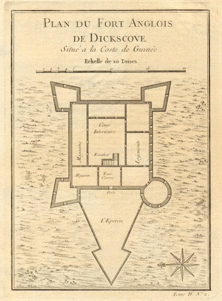 Associate Product 'Fort Anglois de Dickscove'. Dixcove/Metal Cross, Pokesu, Ghana. BELLIN 1747 map