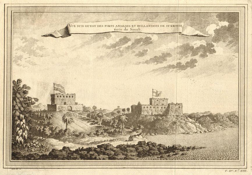 Associate Product English Fort Sekondi & Dutch Fort Orange at Takoradi, Ghana. Gold Coast 1747