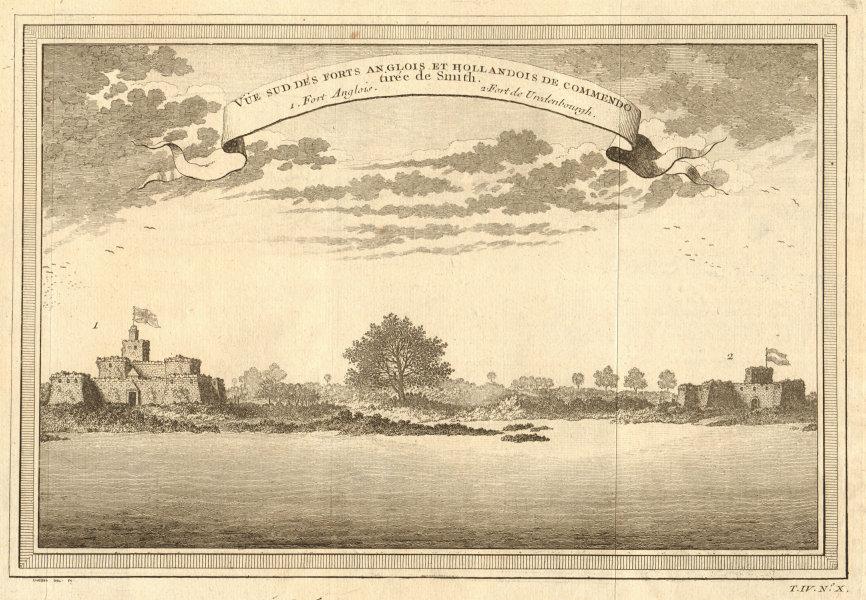 Associate Product English Fort Komenda & Dutch Fort Vredenburg, Ghana. Commendo. Gold Coast 1747