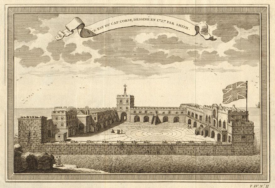 Associate Product 'Vue Est du Cap Corse'. Cape Coast Castle 1727 by Smith. Ghana. Gold Coast 1747