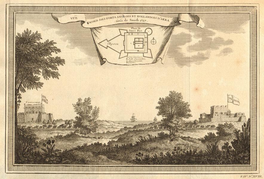 Associate Product English Fort James & Dutch Ussher Fort (Crèvecouer), Accra Ghana Gold Coast 1747